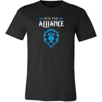 """World of Warcraft """"For the Alliance"""" Men's T-Shirt"""