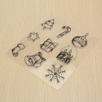 Silicone Christmas Clear Rubber Stamp DIY Scrapbooking Paper Cards Album Decorative Crafts Gadgets Transparent Cling Art Set