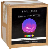 Evolution Salt Lamp  Usb  Natural  Multi Color Changing  1 Count