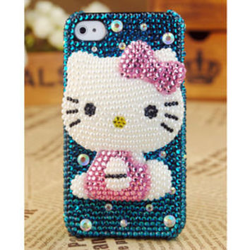 Apple iPhone4 3GS Hello Kitty Pearl Birthday Gift Case - GULLEITRUSTMART.COM