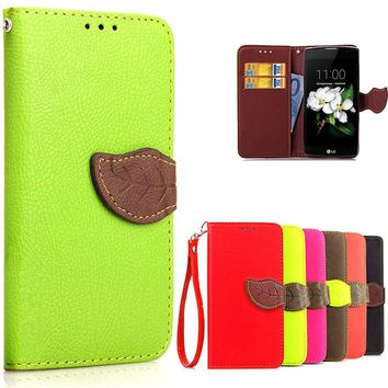 Luxury Leather Wallet Flip Protective Case for Various LG SmartPhones