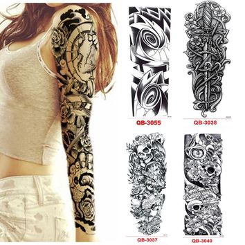 3Pcs Temporary Tattoo Sleeve Waterproof Tattoos for Men Women Metal Stickers Transfer Flash Tattoo Metallic Stickers On The Body