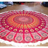 Indian Round Mandala Tapestry Wall Hanging Beach Towel