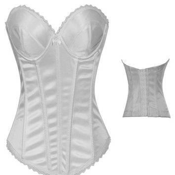 New White Sexy Corset Waist Training Corsets For Sale Waist Trainer For Women Slimming Body Shaper corselet underbust Espartilho