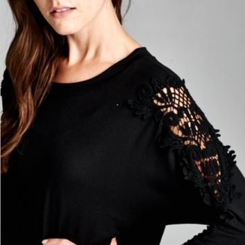 Tunic with Lace Sleeves