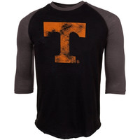 Tennessee Volunteers 3/4 Sleeve Raglan Slub T-Shirt – Black