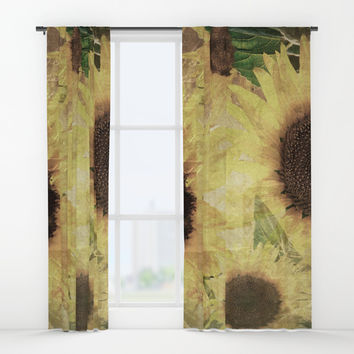 Wallflowers Window Curtains by Theresa Campbell D'August Art