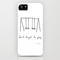 don't forget to play iPhone Case by Marc Johns | Society6