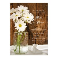 Mason Jar and White Daisies Country Wedding Invite from Zazzle.com