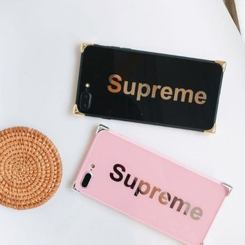 DCCKUNT The New Supreme Print Iphone 8 8 Plus 7 7 Plus 5 5S SE 6 6s Plus Case