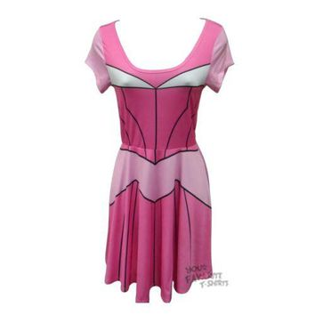 Sleeping Beauty Aurora I Am Costume Disney Junior Skater Dress