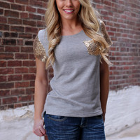 Golden Affair Top - Grey