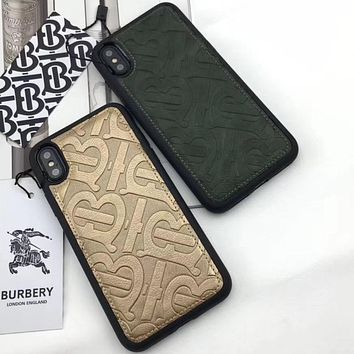 Burberry  Phone Cover Case For iphone 6 6s 6plus 6s-plus 7 7plus 8 8plus iPhone X XS XS max XR