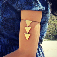 triangle armlet, upper arm chain, body chain, triangle bracelet, triangle jewelry