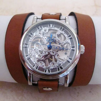 Mechanical Leather Wrap Watch FREE SHIPPING