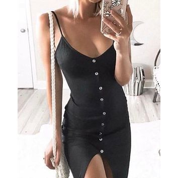 casual chic comfy dress - black