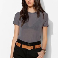BDG High-Rise Roll Up Short - Tar Pit - Urban Outfitters