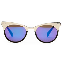 Retro Spring Time Silver Sunglasses