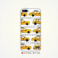 SALE Cabs phone case iPhone case 5 4/4s nyc iPhone case Samsung Galaxy S3 S4 NYC yellow cabs phone case New York City urban phone case NYC