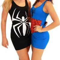 Spider-Man Girl Juniors Costume Tunic Tank Dress - Tank Dress Outfits - | TV Store Online