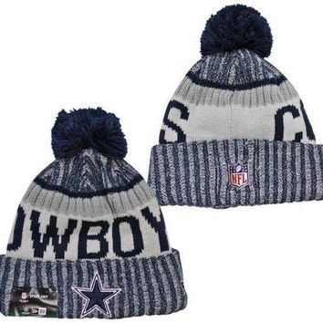 ESBON NFL Dallas Cowboys New Era 2017 On-Field Sideline Official Sport Knit Beanie