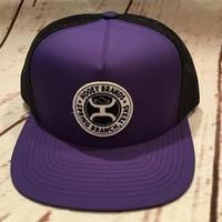 Hooey Hat Guadalupe Purple Trucker Spring Branch Texas 1802T-PLBK
