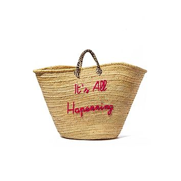 Oversized Straw Weekender Bag - It's All Happening