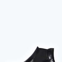 Saffy Hi Shine Pull On Elastic Chelsea Boot
