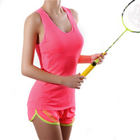 Women's T-shirt Compression Tights Tank Tops Vest Stretch Fit Workout Tops