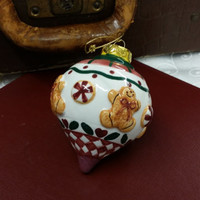 Vintage Porcelain Christmas Ornament