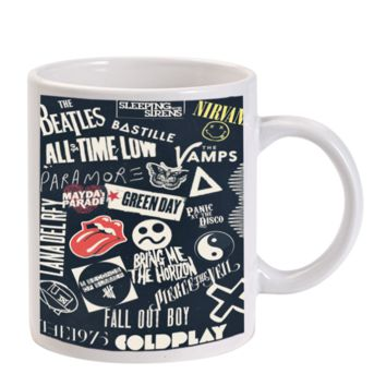 Gift Mugs | Punk Black Band All Time Low The Beatles Ceramic Coffee Mugs