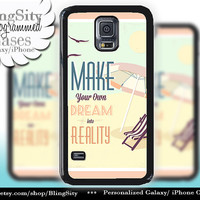 Retro Summer Dream Love Galaxy S5 case S4 Beach Motivational Quote California Samsung Galaxy S3 Case Note 2 3 4 Cover