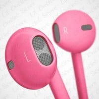 Hot Pink Rose 3.5mm EarPods with Remote And Mic Latest Model for iPhone 5 & 4S 4G 3GS iPod Touch 5 Nano 7 etc. Compare to MD827LL/A with Crystal Box Retail Package:Amazon:MP3 Players & Accessories