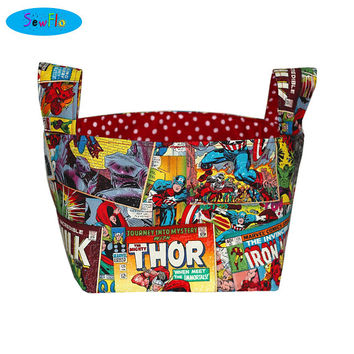 NEW! Storage Bin-Fabric Storage Bin-Bedroom Storage Basket-Marvel Bin-Avengers Basket-Fabric Bin-Nursery Storage