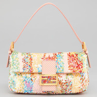 Fendi Splash Ball Sequined Baguette, Multicolor