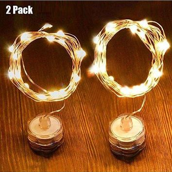 LED String Lights Fairy Lights 6.5Ft 20 Leds Warm White Waterproof Decorative Lights for Wedding,Parties,Bedroom
