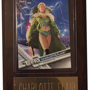 "Charlotte Flair 4"" x 6"" WWE Women's Wrestling Plaque"