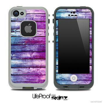 Pink & Blue Dyed Wood Skin for the iPhone 5 or 4/4s LifeProof Case