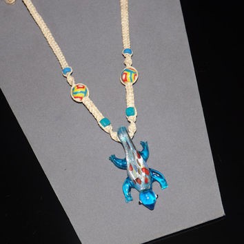 Hemp Lizard Necklace - Custom Fit