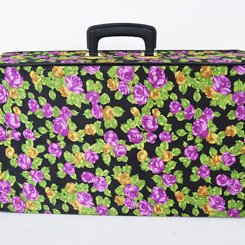 Small folding flower suitcase vintage