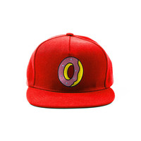SINGLE DONUT SNAPBACK RED – Odd Future