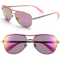 Women's kate spade new york 'dusty' 56mm metal aviator sunglasses