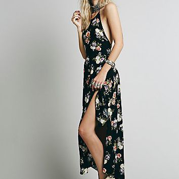 Free People Womens Still Friends Dress - Indigo Floral