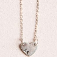 SILVER LA HEART NECKLACE