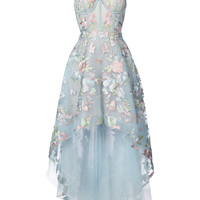 Shop Marchesa Notte Floral Embroidered High-low Dress at Modalist | M0024000225501