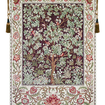 Tree of Life - Brown Tapestry Wall Art Hanging
