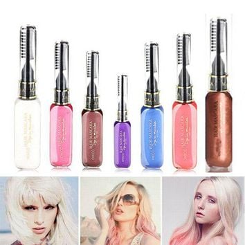 PEAP78W Portable Temporary Color Hair Dye Mascara Non-toxic Hair Mix Color Dyeing Salon Stick SSwell