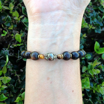 Confidence, Ebony and Pyrite Bracelet