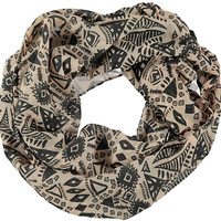 D&Y Light Pink Geo Tribal Print Infinity Scarf