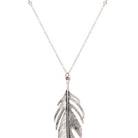 Fly Up High Necklace - Silver - One Size / Silver